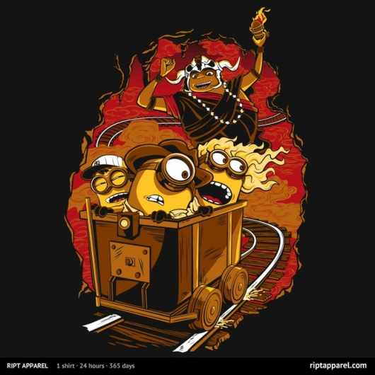 Despicable Me Minions Invade Indiana Jones and The Temple Of Doom