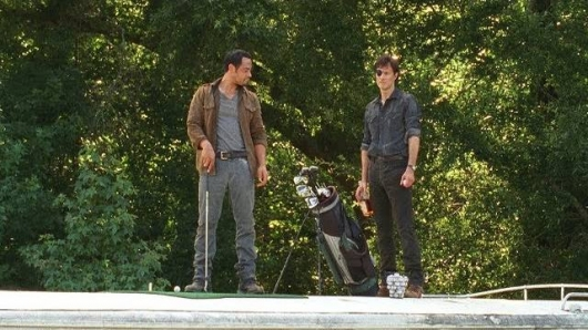 The Walking Dead Episode 407 Golf Club Scene The Governor and Martinez
