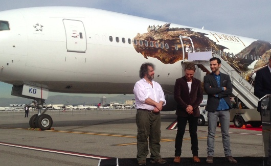 The Hobbit The Desolation Of Smaug Air New Zealand Aircraft Peter Jackson