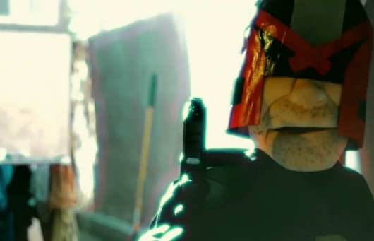 Dredd Shootout Recreated With Puppets