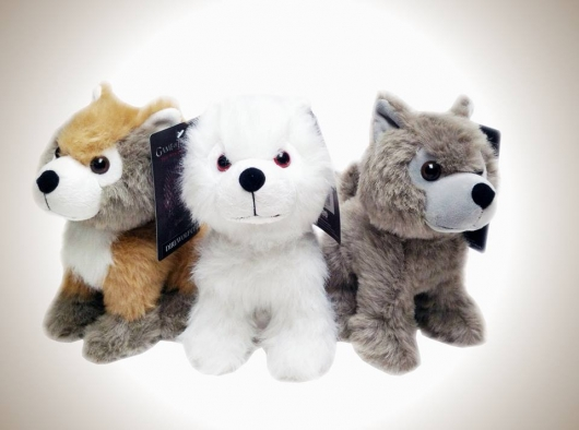 Game of Thrones Mini Direwolf Pup plushes