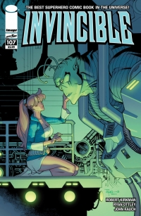 Invincible #107 cover by Ryan Ottley and John Rauch