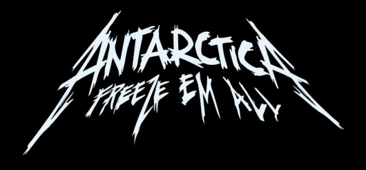 Metallica Antarctica Freeze Em All logo