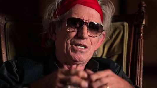 Rolling Stones guitarist Keith Richards in a still from the documentary Muscle Shoals