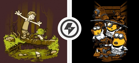 Star Wars, Despicable Me, Calvin and Hobbes Twofury Mash-Up Shirts
