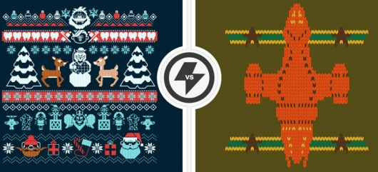 Teefury Firefly and Rudolph Island Of Misfit Toys knitted design shirts