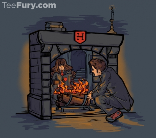 Doctor Who and Harry Potter Witch in the Fireplace shirt