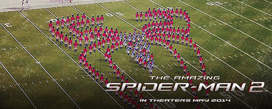The Amazing Spider-Man 2 Super Bowl football field