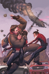 Archer and Armstrong #19 pullbox cover by Jorge Molina