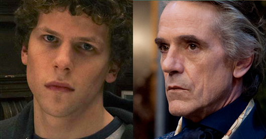 Jesse Eisenberg and Jeremy Irons