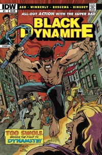 Black Dynamite #1 cover by Marchelo Ferreira and JM Ringuet