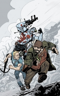 Bloodshot and H.A.R.D. Corps #21 variant cover by Tom Fowler
