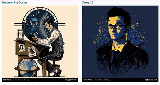 Doctor Who Shirts Daydreaming Doctor Starry 10