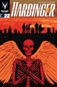 Harbinger #22 cover by Michael Walsh