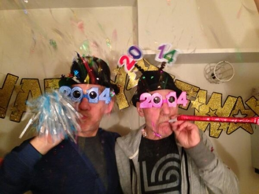 Patrick Stewart and Ian McKellen Happy New Year