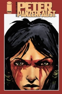 Peter Panzerfaust #16 cover by Tyler Jenkins