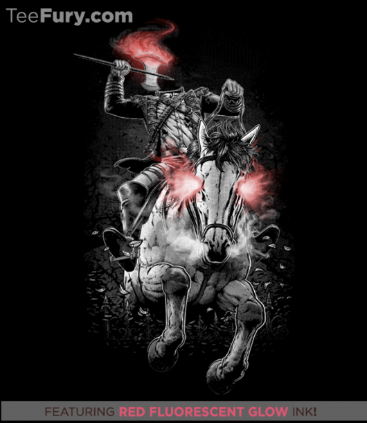 Sleepy Hollow Headless Horseman His Name was Death Glow In The Dark Shirt