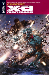 X O Manowar, Vol. 5: At War With Unity cover by Clayton Crain
