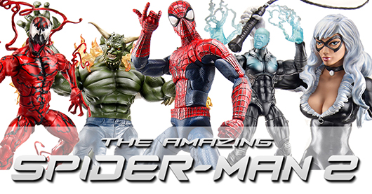 The Amazing Spider-Man 2 Hasbro toys banner