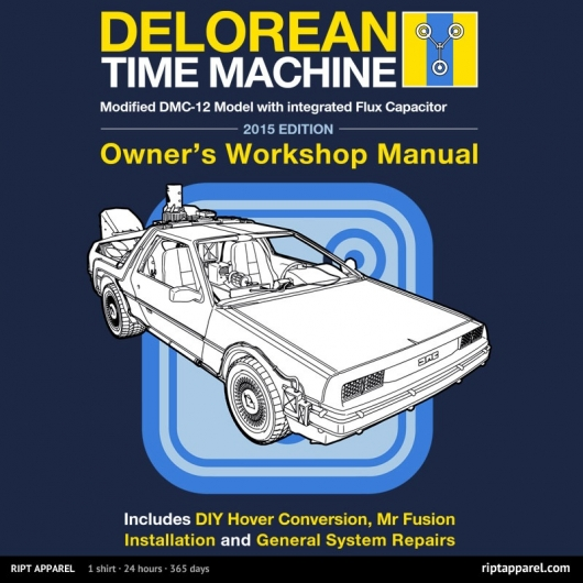Back To The Future Time Machine Manual