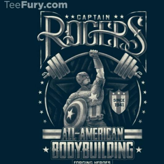 Captain America Rogers Bodybuilding Shirt