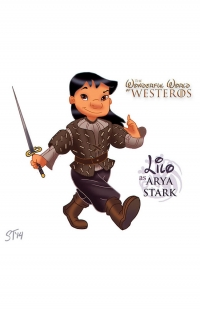 Lilo as Arya Stark