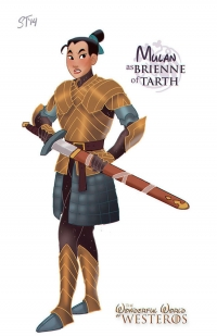 Mulan as Brienne Of Tarth