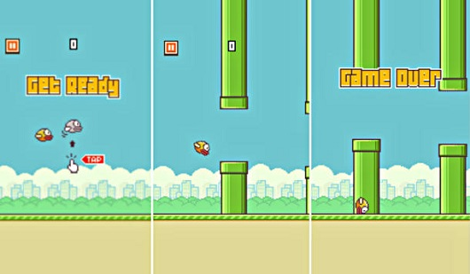 Flappy Bird Gears Studios game screen