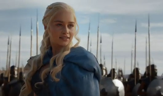 HBO Game of Thrones Emilia Clarke as Daenerys Targaryen