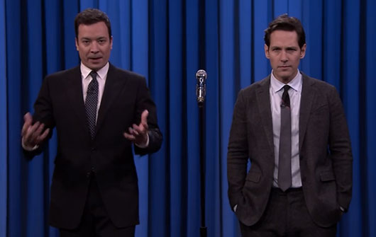 Paul Rudd and Jimmy Fallon Lip Sync Battle On The Tonight Show