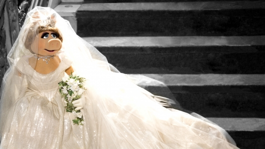 Muppets Miss Piggy wedding gown by Vivienne Westwood in Muppets Most Wanted 2014