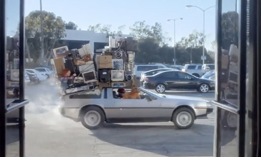 Radio Shack Super Bowl Ad Spot 1980s Icons Back To The Future DeLorean