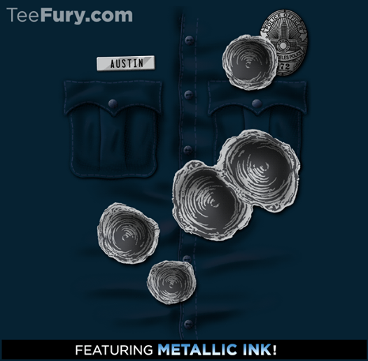 Terminator TEE-1000 Shirt With Metallic Ink