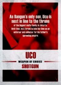The Raid 2 Trading Cards: Uco, back
