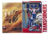 Transformers: Age of Extinction: Optimus Prime First Edition, open package