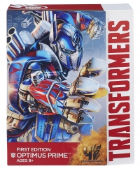 Transformers: Age of Extinction: Optimus Prime First Edition, outer package