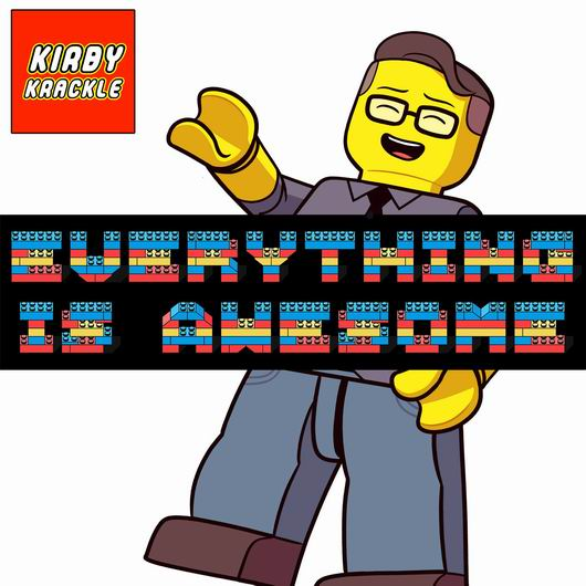 "Kirby Krackle ""Everything is Awesome"". Cover art by Dean Trippe"