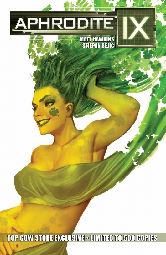 Aphrodite IX #9 St. Patricks Day cover by Stjepan Sejic