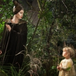 Disney's Maleficent Angelina Jolie with daughter Vivienne Jolie-Pitt