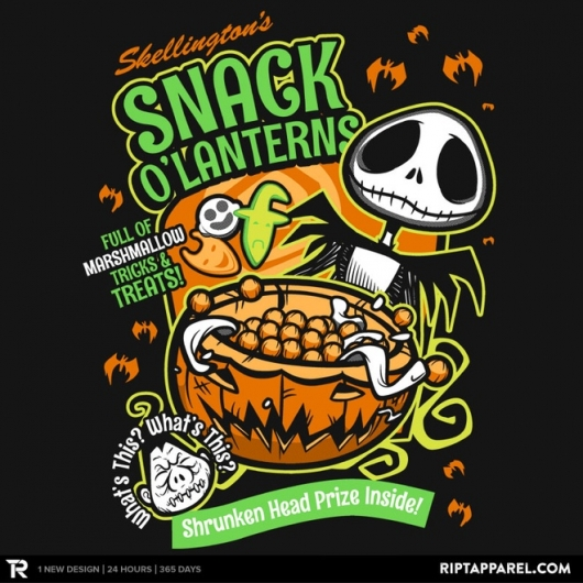 The Nightmare Before Christmas Snack O'Lanterns design