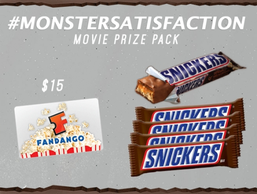 Snickers MONSTERSATISFACTION Movie Prize Pack
