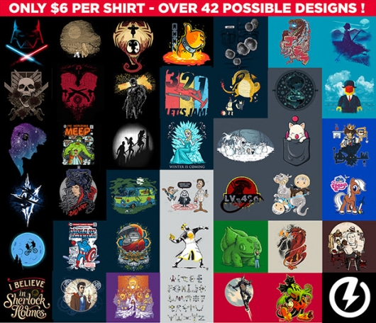 Teefury $6 t-shirt sale selections for March 2014