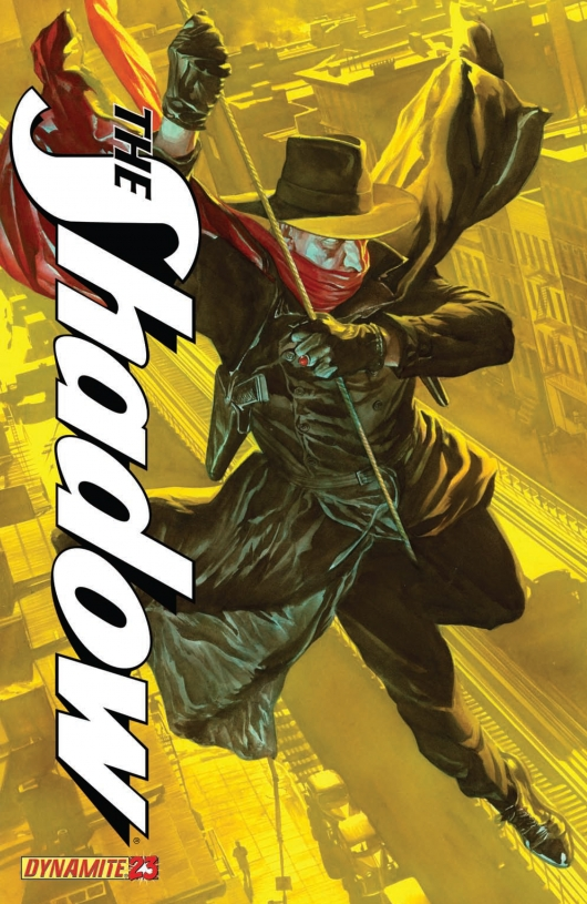 The Shadow #23 cover by Alex Ross
