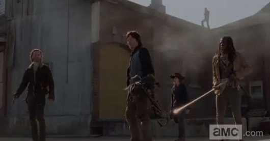 The Walking Dead Season 4.2 Rick, Daryl, Carl, Michonne at Terminus