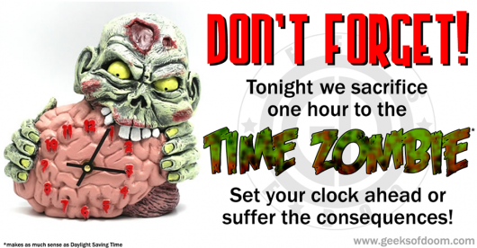 Time Zombie Daylight Saving Time