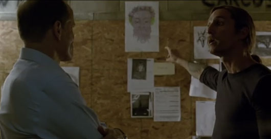 True Detective Episode 7 Marty and Rust with drawing