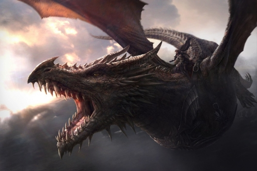 Game Of Thrones Aegon's Conquest Aegon I Targaryen riding atop his dragon Balerion the Black Dread (illustration by J. Gonzalez).