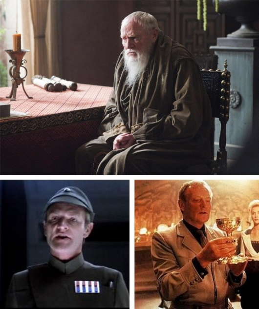 Julian Glover in Game Of Thrones, Empire Strikes Back, Indiana Jones and the Last Crusade