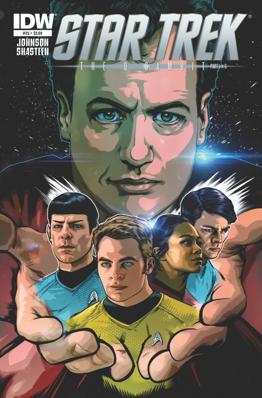 Star Trek The Q Gambit Star Trek #35 cover