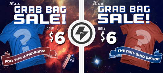 Teefury $6 April 2014 Grab Bag Doctor Who option